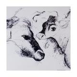 Calves, Gt Garnetts II Giclee Print by Brenda Brin Booker