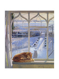 Sundial and Cat Giclee Print by Timothy Easton