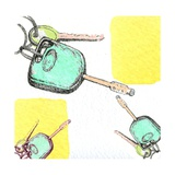 Car Keys Giclee Print by Anna Platts