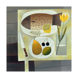 Grey Still Life with Fish, 1999 Giclee Print by Reg Cartwright