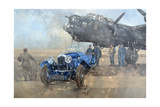 Able Mable and the Blue Lagonda Giclee Print by Peter Miller