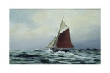 Making Sail after a Blow, 1983 Giclee Print by Vic Trevett
