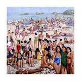 Sun Bathing, 1987 Giclee Print by Komi Chen