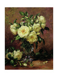 White Roses, a Gift from the Heart Giclee Print by Albert Williams
