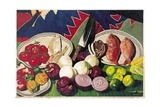 Fishes with Knife, Lemons and Vegetables, 2005 Giclee Print by Pedro Diego Alvarado