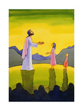 Jesus Christ Performs the Miracle of the Loaves and the Fish, 2004 Giclee Print by Elizabeth Wang