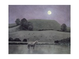 Horse in Moonlight, 2005 Giclee Print by Ann Brain