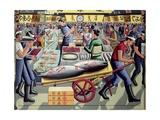 Tsukiji Fish Market, 2005 Giclee Print by P.J. Crook