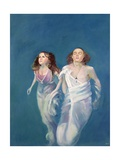 A Boy and Girl Floating, 2004 Giclee Print by Lucinda Arundell