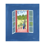 Zaid Through the Window, 1986 Giclee Print by Marie Hugo