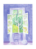 Cedars Through the Window, 1987 Giclee Print by Marie Hugo