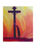 In Our Sufferings We Can Lean on the Cross by Trusting in Christ's Love, 1993 Giclee Print by Elizabeth Wang