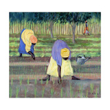Women Gardening, 2005 Giclee Print by Tilly Willis