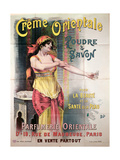 Poster Advertising 'Creme Orientale' Powder and Soap Giclee Print by  Pal