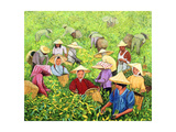 Tea Picking Girl, 1994 Giclee Print by Komi Chen