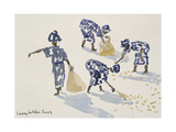 Clearing Leaves, Senegal, 2003 Giclee Print by Lucy Willis