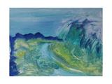 Blue River Landscape I, 1988 Giclee Print by Brenda Brin Booker
