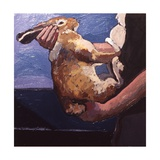 Rabbits Soon Become Tame If Handled Correctly, 1981 Giclee Print by Peter Wilson