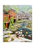 Village by the River, 1992 Giclee Print by Komi Chen