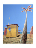 Beach Hut Giclee Print by Charlie Baird