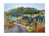 Road to Torloisk, 2008 Giclee Print by Anna Teasdale