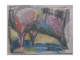 Sketch for 'Three Trees', 1965 Giclee Print by Emil Parrag