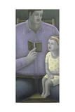 Man Reading to Girl, 2003 Giclee Print by Ruth Addinall
