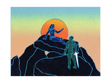 Siegfried Wakens Brunhilde, Illustration from 'Siegfried' Giclee Print by Phil Redford