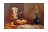 Still Life with Apples and Beethoven's Bust Giclee Print by Gail Schulman