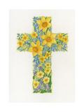 Floral Cross II, 2000 Giclee Print by Linda Benton