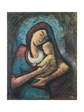 Mother with Child, 1962 Giclee Print by Emil Parrag