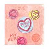 Love Hearts Giclee Print by Anna Platts
