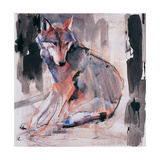 Sitting Wolf, 2000 Giclee Print by Mark Adlington