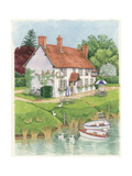 The Boat Inn, 2003 Giclee Print by Linda Benton
