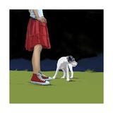 Girl in Red Skirt, 2008 Giclee Print by Marjorie Weiss