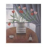Tulips, Curtain, Cups, 2002 Giclee Print by Ruth Addinall