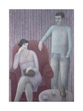 Couple with Cat, 2008 Giclee Print by Ruth Addinall