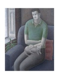 Young Man with Cat, 2008 Giclee Print by Ruth Addinall