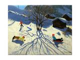Winter Hillside, Morzine, France Giclee Print by Andrew Macara