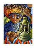El Regreso Del Coqui Dorado Giclee Print by Oscar Ortiz
