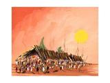African Life, 2006 Giclee Print by Oglafa Ebitari Perrin