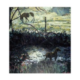 Pony and Dog in a Field, 2000 Giclee Print by Peter Wilson