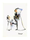 Wedding Horse-Shoe Heel Giclee Print by George Adamson