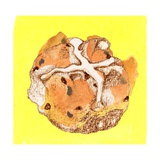 Hot Cross Bun Giclee Print by Anna Platts