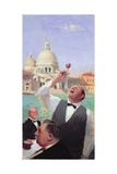 Wine Tasting on the Grand Canal, 2004-05 Giclee Print by Alan Kingsbury