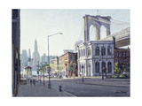 Brooklyn Bridge, New York Giclee Print by Julian Barrow