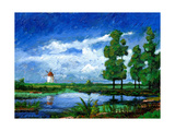 Windmill, Holland, 2006 Giclee Print by Trevor Neal