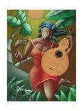 Fantasia Boricua Giclee Print by Oscar Ortiz