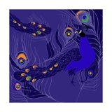 Peacock Giclee Print by Anna Platts