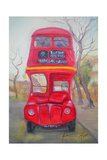 Red Bus Giclee Print by Antonia Myatt